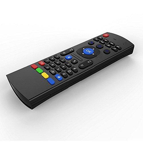 Hintergrundbeleuchtete Luft-Mäuse Tastatur Fern, 2.4Ghz mini drahtloses Android-Fernsehsteuerungs- u. Infrarotlernmikrofon für Computer PC-androiden Fernsehkasten von Dupad Story (Voice Backlit)