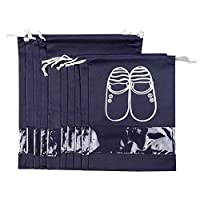 10-PCS Navy Blue Portable Travel Shoe Bags Storage Organizer Bag for Men Women