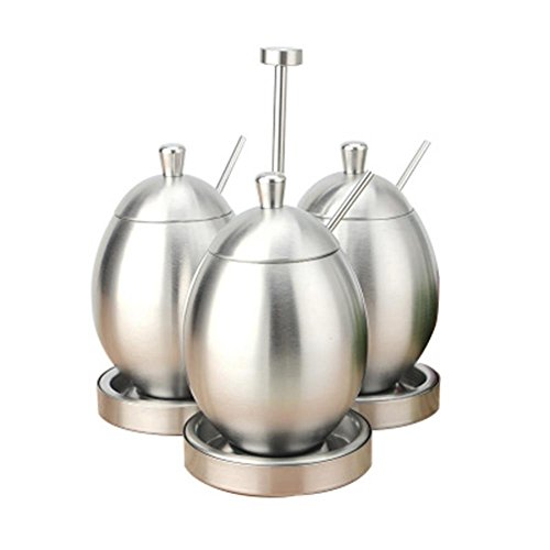 V.JUST Spice Jar Seasoning Box Container Pfeffer Salz Zucker Lagerung kann Rack Edelstahl Condiment Topf Küche Veranstalter