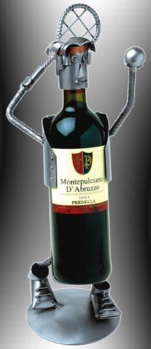 Boystoys HK Design Weinflaschenhalter Tennis - Metall Art Weinflaschen-Deko Weingeschenk - Original...
