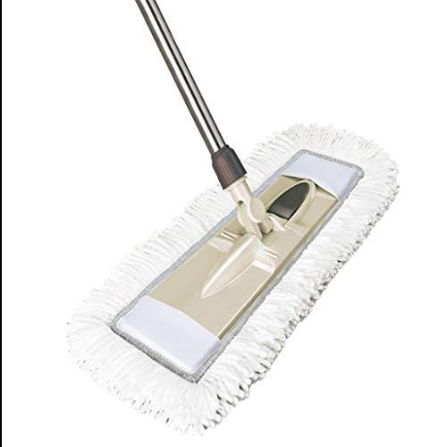 DWW Flachmop 48cm vergrößern Flachwischmop Verankerung Holzbodenstaub-Abschleppseil