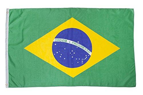 shenky Flagge Fahne 150x90cm Verschiedene Länder Fan Fussball (Brasilien)