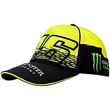 VR46Hombre Valentino Rossi Monster Cap Fluo Tapa, Amarillo/Negro, One size