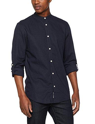 Jack & jones jorlee shirt ls, camicia uomo, blu (total eclipse fit:reg), small