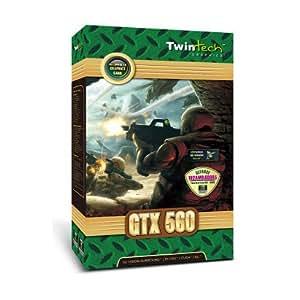 Twintech Geforce GTX 560 Carte graphique Nvidia PCI-E 2.0 1024 Mo DDR5 DVI/Mini HDMI