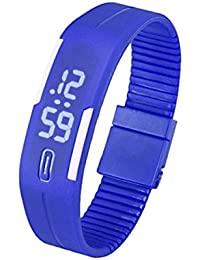 Tongshi Para mujer para hombre de goma Reloj LED Fecha Deportes pulsera reloj de pulsera digita