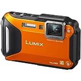 Panasonic LUMIX DMC-FT5EG9-D Outdoor Kamera (3 Zoll LCD-Display, LEICA Weitwinkel Objektiv mit 4,6x opt. Zoom, wasserdicht bis 13 m, GPS,WiFi) orange