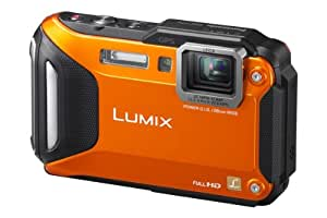 Panasonic LUMIX DMC-FT5EG9-D Outdoor Kamera (3 Zoll LCD-Display, LEICA Weitwinkel Objektiv mit 4,6x opt. Zoom, wasserdicht bis 13 m, GPS,WiFi) orange