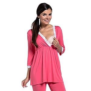 Zeta-Ville-Premam-CamisnBata-Pijama-Mezcla-Y-COMBINA-para-Mujer-591c-Coral-EU-44-2XL