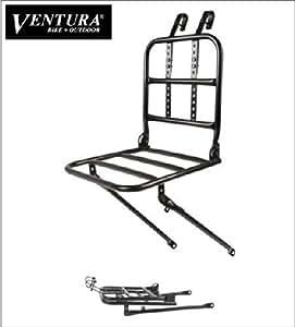 """Ventura porte-bagages avant pour roues 24 """"-28"""" 700C 01030203 acier (noir)"""
