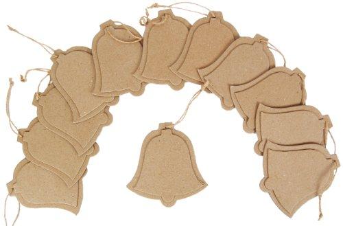 Flache Glocke (Country Love Crafts Bastelvorlage Glocke, zum Aufhängen, flach, Pappe, 12 Stück)