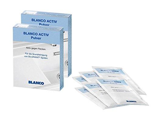 2er Set Blanco 520784 Activ Reinigungs-Pulver für Silgranit Spülen - Aktiv gegen Flecken