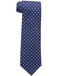 Tommy Hilfiger Men's Dot Print Tie, Navy, One Size