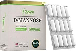D-mannosio capsule da 500 mg - 60 compresse vegetariane più efficaci del succo di cranberry | SUPPORTA LA SALUTE DELLA VESCICA E DEL TRATTO URINARIO | Integratore prostata e contro la cistite