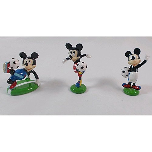 Bonboniere Mickey Fußballer Disney Kunstharz bunt Glanz Höhe cm. 4.5–q067700