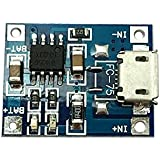 Ecloud Shop® 1A batería de litio de carga Junta Lipo Módulo DIY Micro Puerto USB