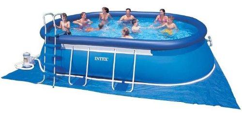Intex Rahmenpool-Set Swimming Pool Oval-Frame 366x610x122 ECO 54934 GS zum SUPERPREIS