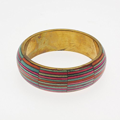 Dhari Fair Trade Handmade Striped Bangle