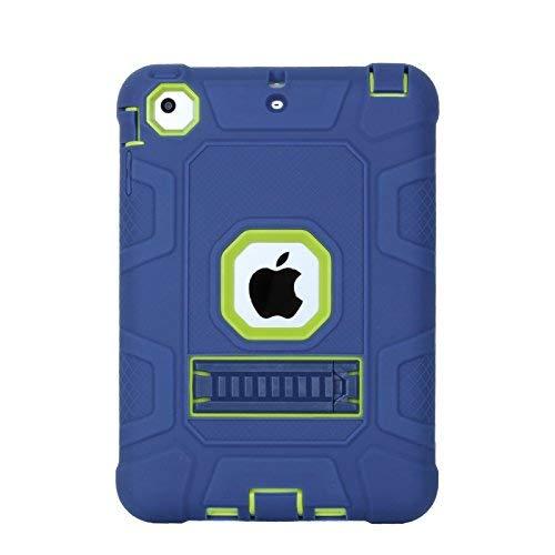 iPad Mini Case, iPad Mini 2Case, iPad Mini 3, beimu 3in1Hybrid, Defender Robuste Hülle Silikon Hard Case Full Body Schutzhülle mit Ständer für Apple iPad Mini 1/2/3 Navy+Green (Pokemon Mini 2 Ipad Case)