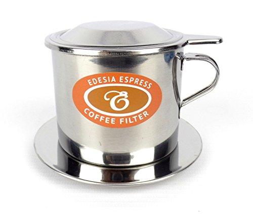 EDESIA ESPRESS - Vietnamesischer Kaffeefilter Ca Phe Phin - Edelstahl - Schraub-Filter - Größe 8