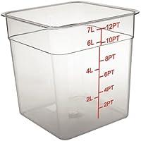 Vogue CF023policarbonato recipiente de almacenamiento cuadrado