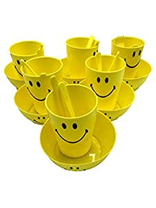 Kids Trends Smiley Single Wall Bowl Gift Set of Bowl & Mug for,Return Gifts for Kids Birthday Party (Pack of 12)