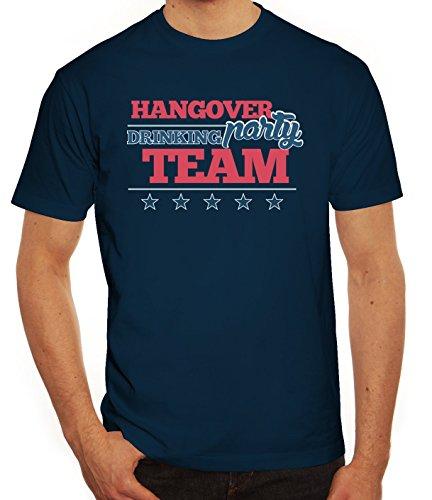 Junggesellenabschieds JGA Hochzeit Herren T-Shirt Hangover Party Drinking Team Dunkelblau