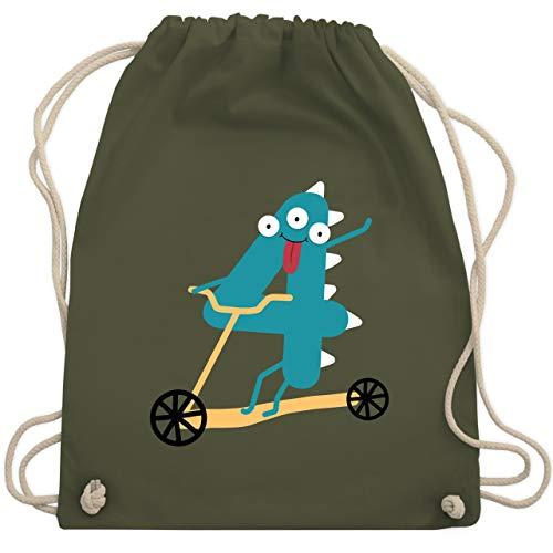 Geburtstag Kind - Monster Geburtstag 4 - Unisize - Olivgrün - WM110 - Turnbeutel & Gym Bag (Gym Bag Roller)