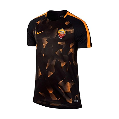 e8fc41638c95c 2017-2018 AS Roma Nike Pre-Match Training Shirt (Black)
