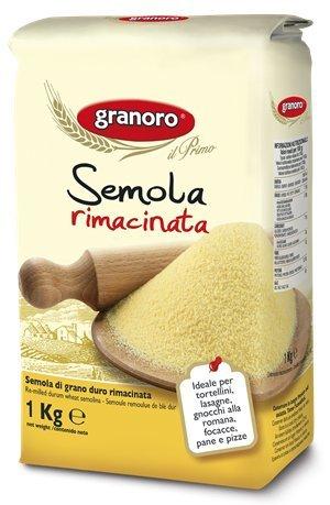 farina di grano duro Granoro Semola di grano duro / Hartweizengrieß gemahlen 1 kg.