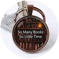 we are Forever family So Many Books So Little Time Llavero, Biblioteca de Libros de Arte, Regalo para Amigos, joyería de Libros, joyería de joyería