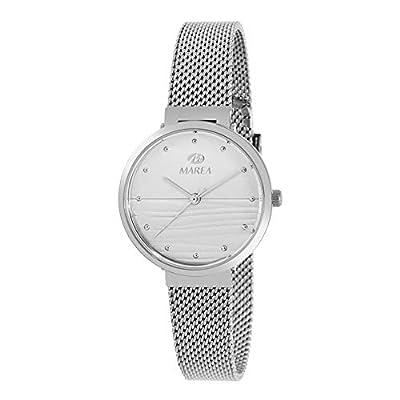 Reloj de Acero Marea Analógico Mujer B54163/1 con Malla Milanesa y Esfera Blanca