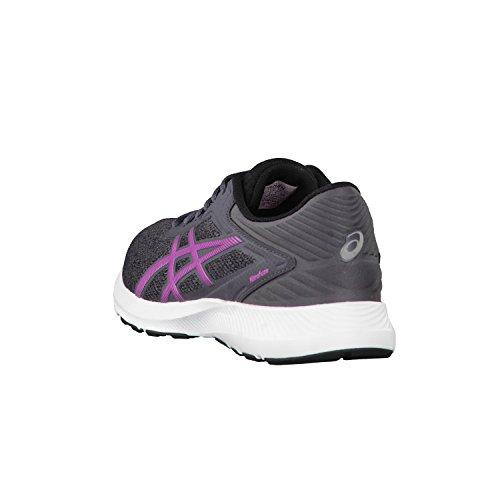 Asics Nitrofuze, Running Femme Gris - Dark Steel/Pink Glow/Black
