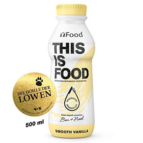 YFood Vanille | Laktose- und glutenfreier Nahrungsersatz | 34g Protein, 26 Vitamine und Mineralstoffe | Leckere Astronautennahrung - 25% des Kalorienbedarfs | Trinkmahlzeit, 12 x 500 ml (1 kcal/ml) -
