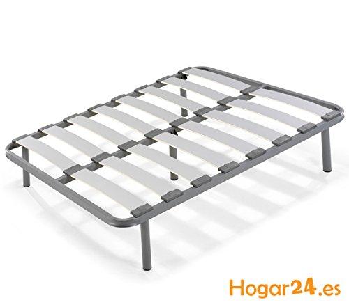 Hogar24es-Somier-laminas-madera-haya-vaporizadas-con-tacos-anti-ruido-tubo-de-acero-40-x-30-con-juego-de-5-patas-roscadas-incluido-de-altura-32cm-105X180