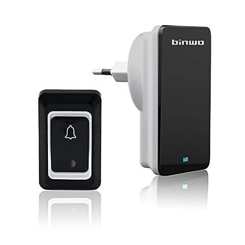 Drahtlose Türklingel, Binwo Plug-in Wireless Drahtlose Wasserdichte Türklingel Kit, 1
