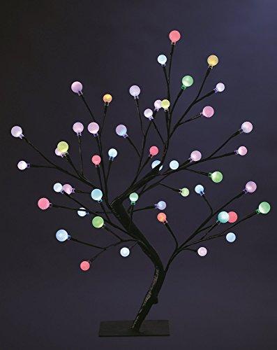 ALBERO luminoso con 48 LED - ampolle a variazione di colore - Altezza 45cm .
