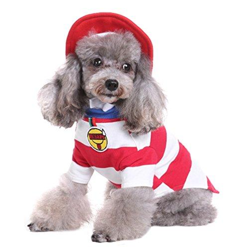 Yuncai Lustige Halloween Haustier Hund Kleidung Weihnachts-Clown Kürbis Spinne Hexe Verkleiden Sich Party Kostüm Cosplay für Katze Als Bild ()