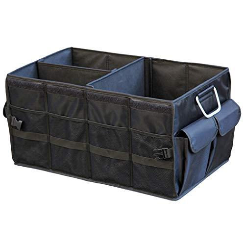 HSBAIS Auto Kofferraum Organizer Zusammenklappbares, tragbares 66L-Großraum-Frachtlager mit Metall Griffe, Bester Fahrzeug-LKW-Lebensmittelgeschäft,A1_60x35x30cm - Lebensmittelgeschäft Lkw