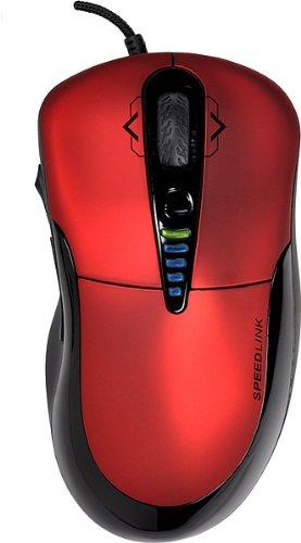 Speedlink Prime Core Gaming Maus (7 programmierbare Tasten, 4-Wege-Mausrad, rote LED-Beleuchtung, DPI-Schalter bis zu 3200dpi) rot