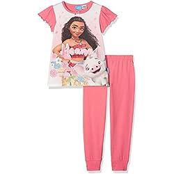 Moana Girl's Glitter Pyjama Sets, Orange, Years (Size: 7-8)