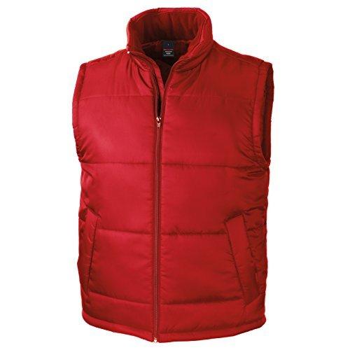 Red Bodywarmer - Mens Lightweight Windproof Full Zip Outdoor Gilet