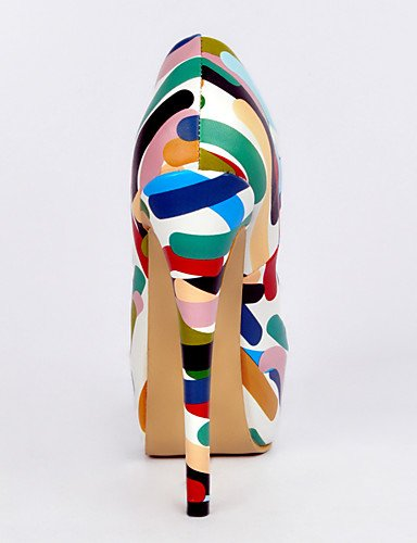 WSS 2016 Chaussures Femme-Mariage / Bureau & Travail / Soirée & Evénement-Multi-couleur-Talon Aiguille-Talons-Chaussures à Talons-Polyuréthane multi color-us6 / eu36 / uk4 / cn36