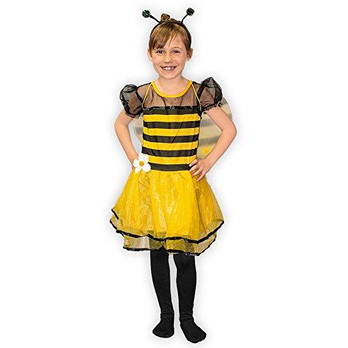 SoulCats Kostüm Set Biene mit Haarreifen und Flügeln Fasching Karneval , Größe:Grösse ()