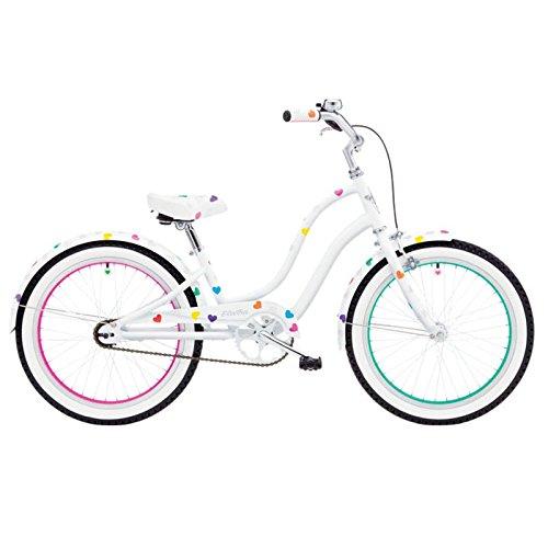 Electra Heartchya 3i Mädchen Fahrrad 20 Zoll Weiss Kinder Beachcruiser weiß, 528807 -