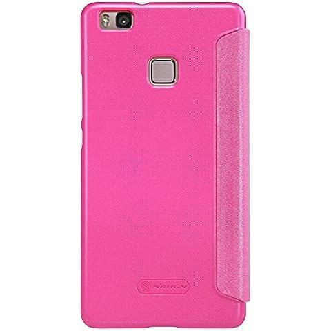 Nillkin Sparkle–Funda de piel sintética para Huawei P9lite, color rosa
