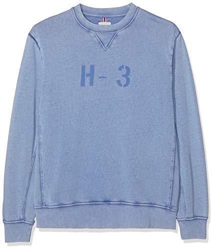 HKT by Hackett London Herren HKT H3 Crew Sweatshirt, Blau (Dark Blue 581), X-Large (Herstellergröße:XL)