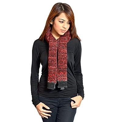 513 Knitted self design women's muffler