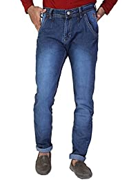 Denim Vistara Men's Blue Colored Polo Fit Cotton Jeans