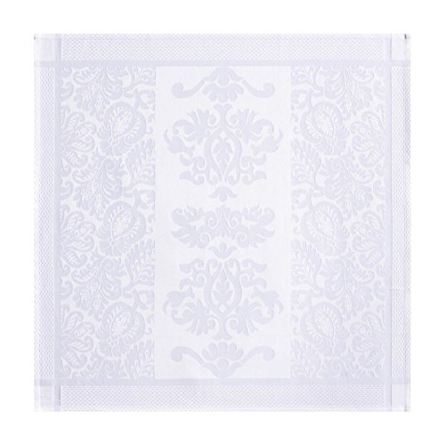 Le Jacquard Francais Serviette Siena Coton Blanc 58 x 58 cm